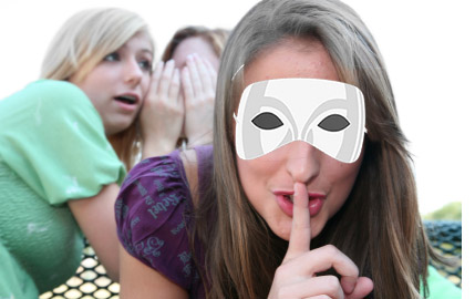Girls with mask