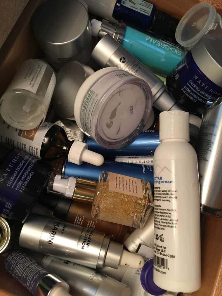drawer of products